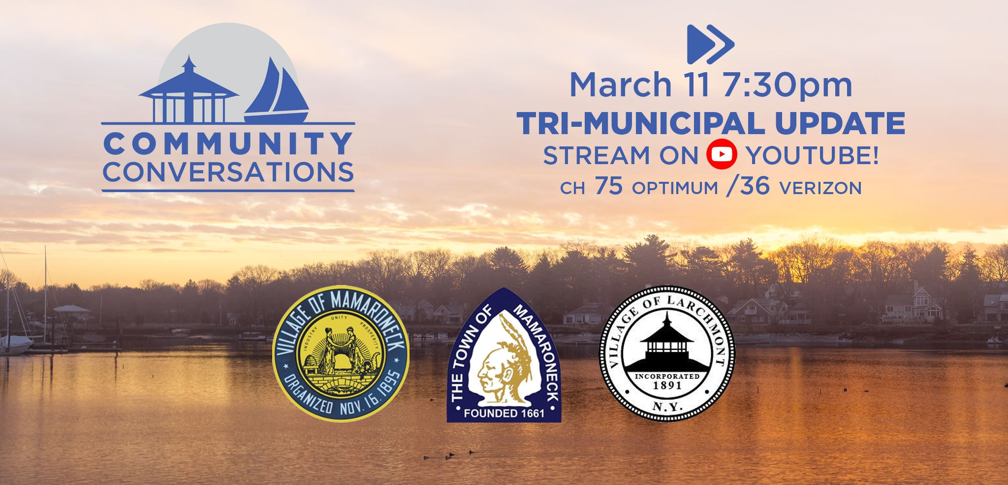 Community Conversations Tri-Municipal Update Thursday March 11 on Youtube and LMC Media